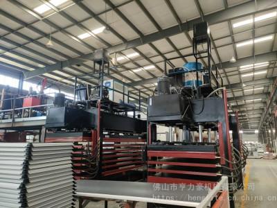 亨力特聚氨酯发泡板多层热压机厂家 5米6层发泡空调发泡板层压机